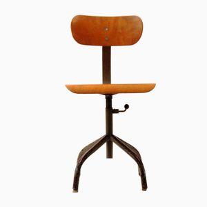 Chaise d'Architecte Vintage Industrielle en Contreplaqué