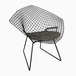 Schwarzer Diamond Stuhl von Harry Bertoia für Knoll, 1950er