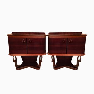 Art Deco Night Stands by Vittorio Dassi, 1930s, Set of 2