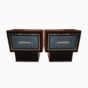Vintage Art Deco Night Stands, 1940s, Set of 2
