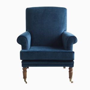 Antique Edwardian Velvet Armchair
