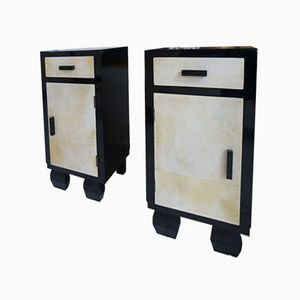 Art Deco Night Stands, 1930s, Set of 2