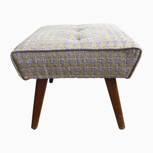 Houndstooth Footstool from Stylemaster Archer, 1950s