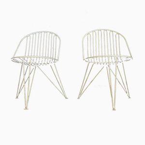 Mid-Century Mauser Dreibein Stühle, 1950er, 2er Set