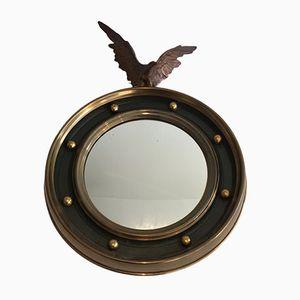 Vintage Brass and Bronze Round Mirror, 1940s