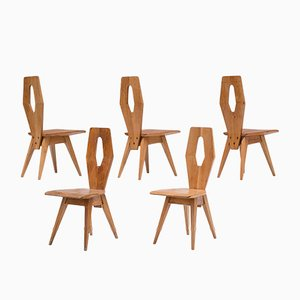 Italian Dining Chairs, 1970s, Set of 5