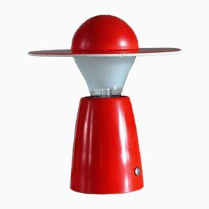 Mid-Century Red Mushroom Lamp from Temde, 1960s