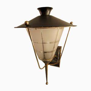 Mid-Century Lantern Sconce, 1950s