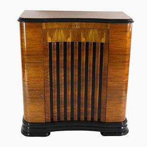 Art Deco Barschrank mit Schellack