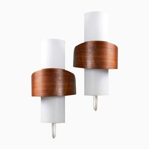 NX40/00 Wandlampen von Louis Kalff für Philips, 2er Set