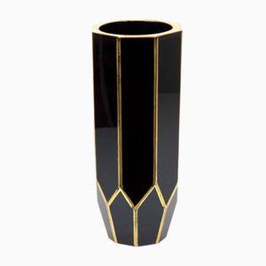 Bohemian Beveled Hyalite Vase, 1860s