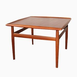 Mid-Century Danish Teak Square Coffee Table by Grete Jalk for Glostrup, 1960s