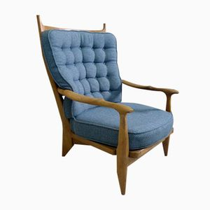 Mid-Century French Edouard Armchair by Guillerme & Chambron for Votre Maison