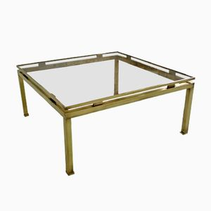 Mid-Century French Brass Coffee Table by Guy Lefevre for Maison Jansen, 1970s