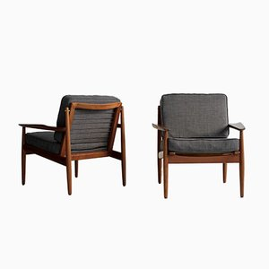 Teak Armchairs by Arne Vodder for Glostrup, 1960s, Set of 2