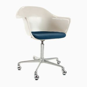 Mid-Century German Fiberglass Desk Swivel Chair by K. Schäfer for Interlübke, 1960s
