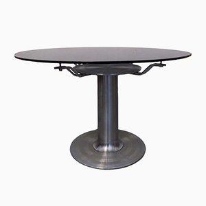 Mid-Century Italian Steel and Glass Coffee Table, 1970s