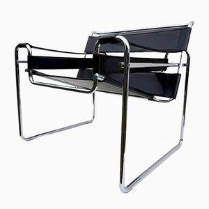 Schwarzer Mid-Century Wassily Chair von Marcel Breuer