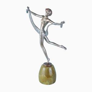 Figurina Art Deco in bronzo di Lorenzl, Austria, 1930