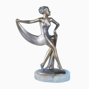 Österreichische Art Deco Tanzfigurine von Lorenzl, 1930