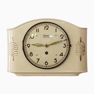 Art Deco Porcelain Wall Clock from Garant, 1940s