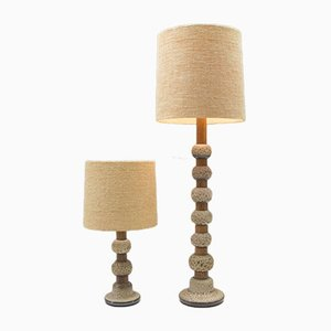 Mid-Century Safari Keramik Stehlampen von Kaiser Leuchten, 2er Set