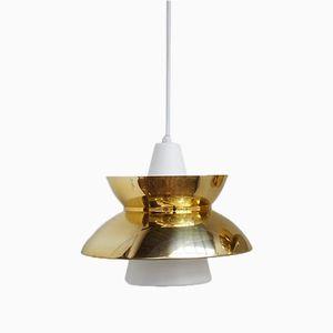 Danish Gold Doo Wop Pendant by Henning Klok for Louis Poulsen