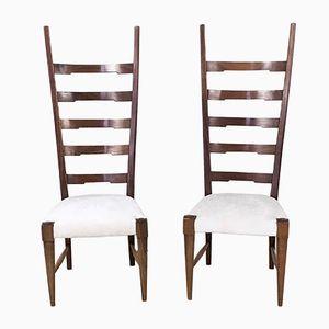 Mahagoni Stühle von Paolo Buffa, 1940er, 2er Set