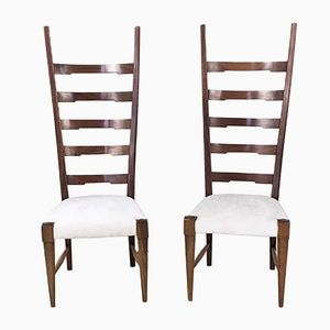 Mahogany Chairs by Paolo Buffa, 1940s, Set of 2