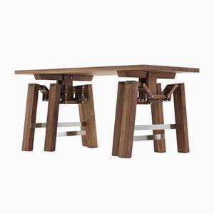 Table Walking en Noyer par Wouter Scheublin
