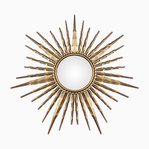 Mid-Century French Sunburst Mirror from Vallauris