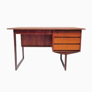 Skandinavischer Vintage Teak Schreibtisch mit Kufengestell