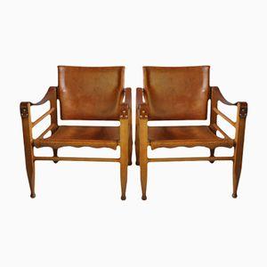 Vintage Safari Chairs von Børge Mogensen von Fredericia, 2er Set