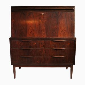 Mid-Century Danish Rosewood Secretaire by Erling Torvits for HJN Mobler, 1960s