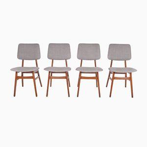 Dutch Teak Dining Chairs, 1960s, Set of 4