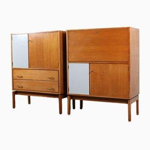 Vintage Cabinets by Jos De Mey for Pauvers Van Den Berghe, Set of 2