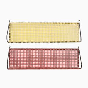 Metal Perforated Book Shelf from Pilastro, 1960s, Set of 2