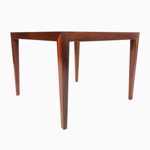 Mid-Century Square Rosewood Coffee Table by Severin Hansen for Haslev, 1960s