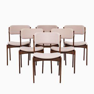 Esszimmerstühle von Erik Buch für Odense, 1960er, 6er Set