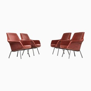 Danish Easy Chairs, 1960s, Set of 4