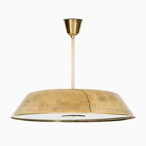 Swedish Brass and Glass Ceiling Lamp from Böhlmarks