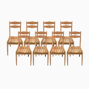 Vintage Oak Chairs by Guillerme et Chambron for Votre Maison, Set of 8