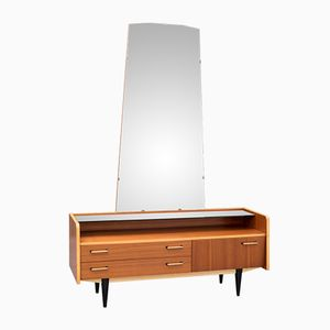 Teak Commode with Mirror, 1950s