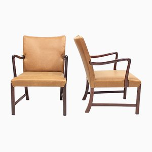 Danish 1756 Easy Chairs by Ole Wanscher for Fritz Hansen, 1940s, Set of 2