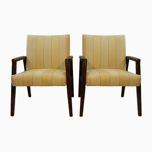 Buchenholz Armlehnstühle, 1960er, 2er Set