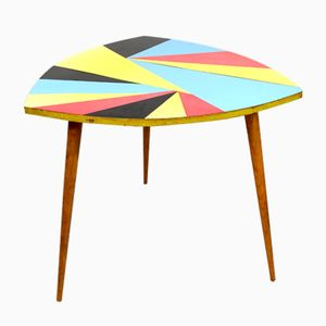 Colorful Geometric Coffee Table from Dřevotex Žamberk, 1958