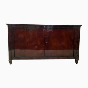 Vintage Red Lacquered Sideboard from Maison Ramsay