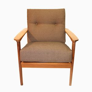 Scandinavian Armchair with Bouclé Fabric, 1960s