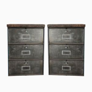 Industrial Dressers from Roneo, 1960s, Set of 2