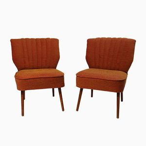 Bouclé Fabric Cocktail Chairs, 1950s, Set of 2